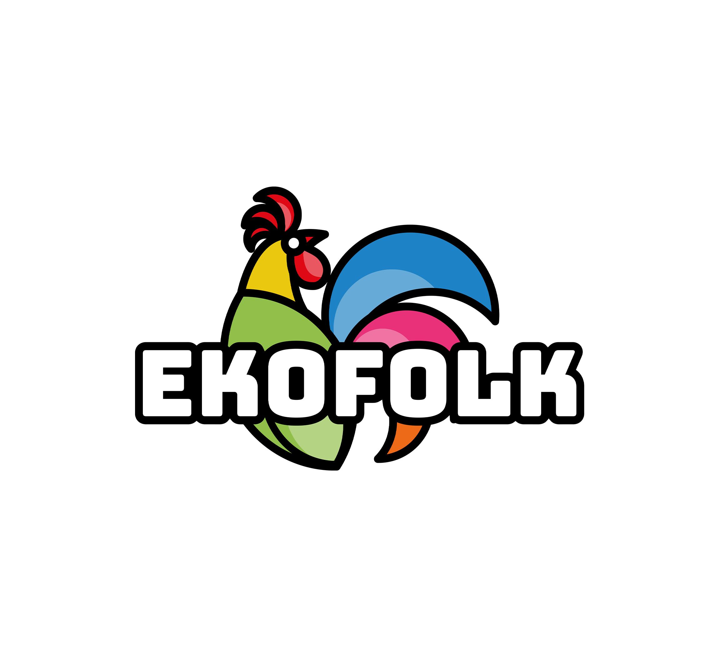 EKOFOLK, wyroby drewniane i odzież góralska — sygnet, logotyp