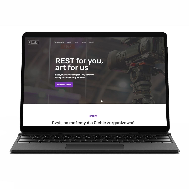 Restart, firma eventowa — strona www