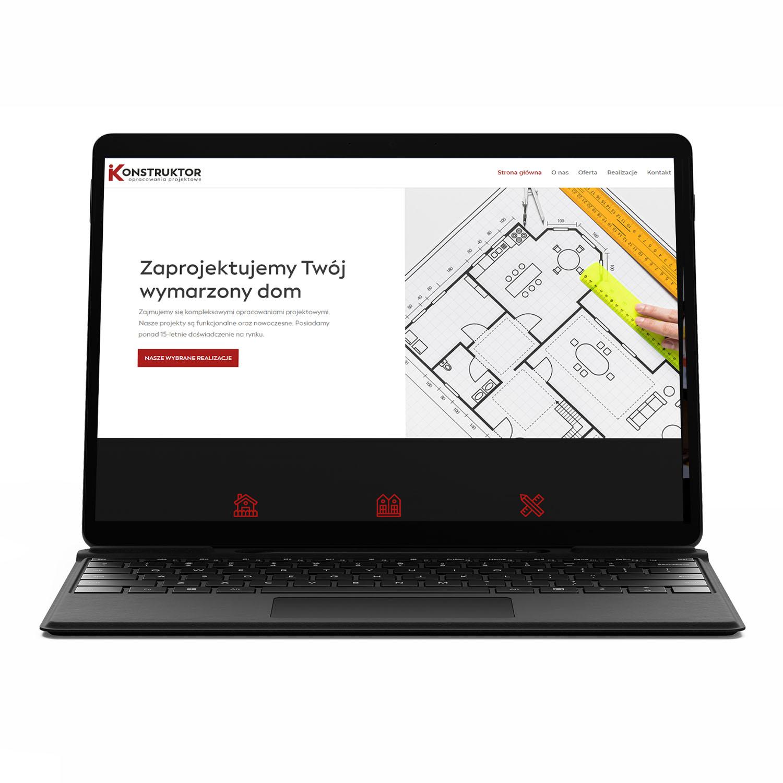 iKonstruktor, pracownia projektowa — stworzenie strony www