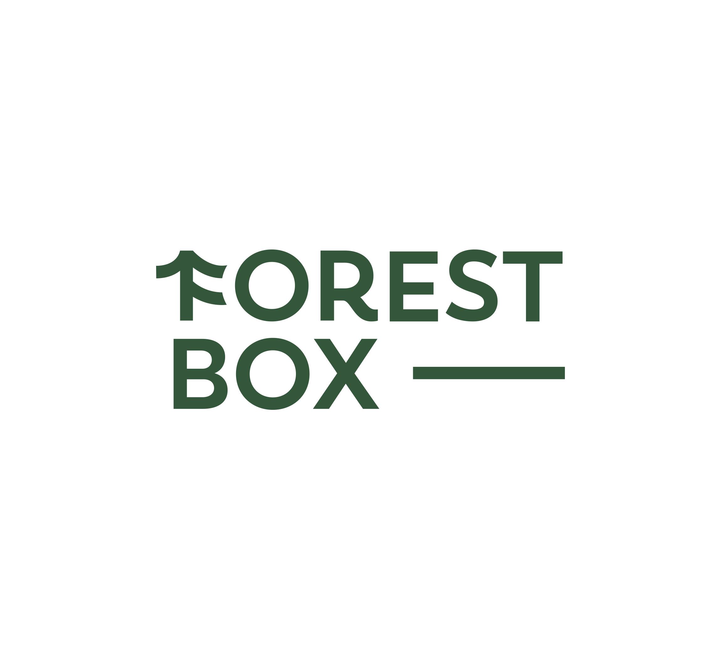 Forest Box, producent skrzynek oraz pudełek drewnianych — propozycja logo