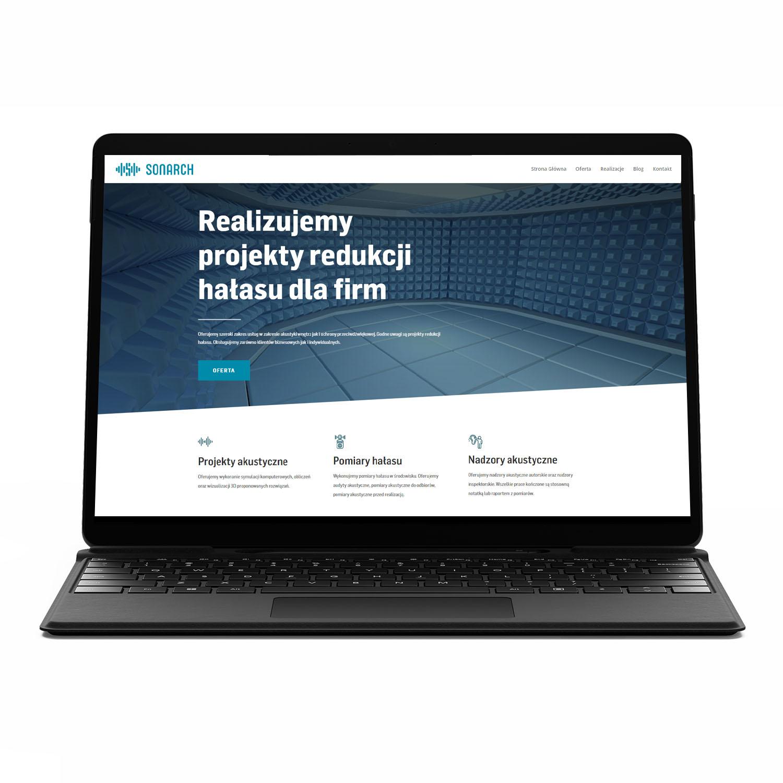 SONARCH, inżynieria dźwięku — projekt strony internetowej