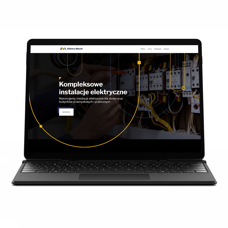Elektro Marek, kompleksowe instalacje elektryczne — stworzenie strony www