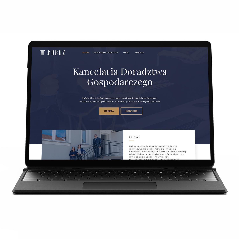 ŁOBOZ, kancelaria doradztwa gospodarczego — projekt strony
