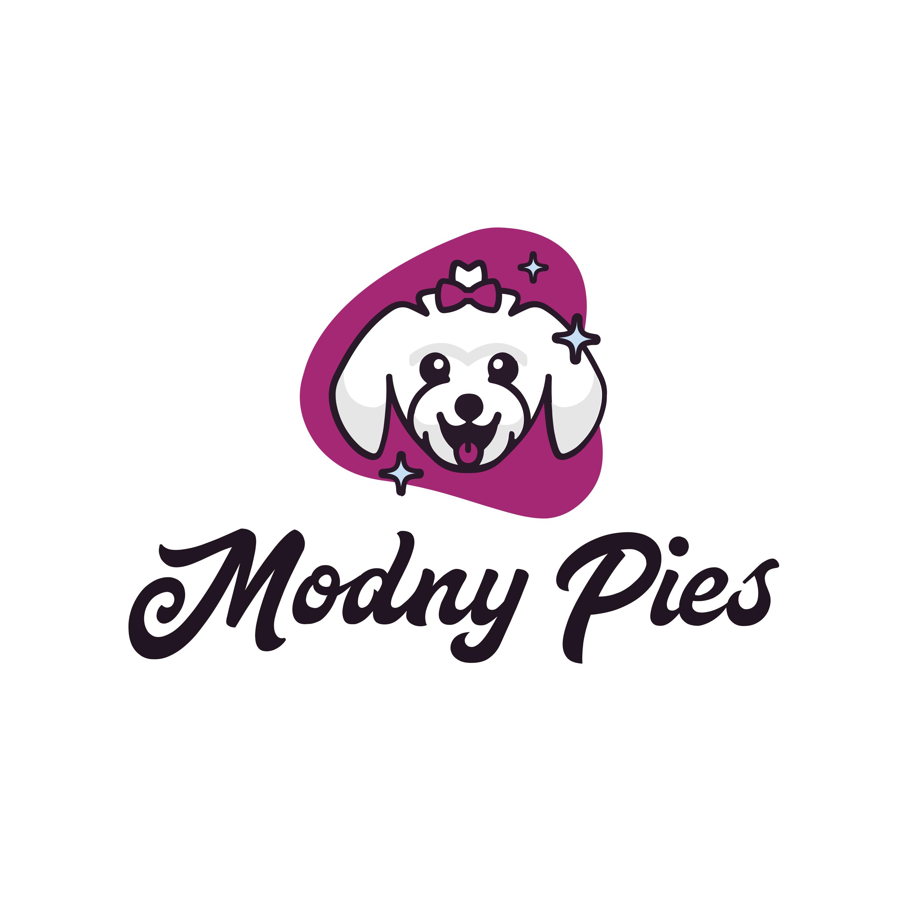 Modny Pies, salon pielęgnacji psów — identyfikacja wizualna